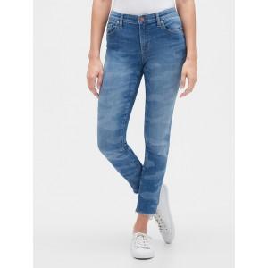 Mid Rise Legging Skimmer Jeans in Camo