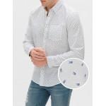 Long Sleeve Poplin Shirt in Untucked Fit