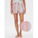 Print Shorts in Poplin