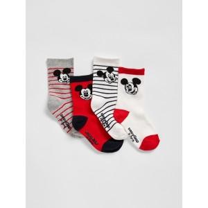 babyGap ' Mickey Mouse Crew Socks (4-Pack)