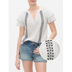 Flutter Sleeve Short Sleeve Top