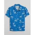 Kids Print Short Sleeve Polo Shirt