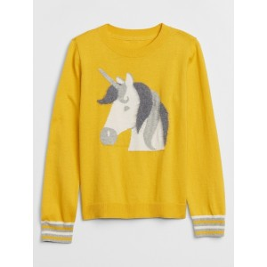 Kids Crewneck Unicorn Graphic Sweater