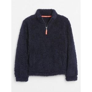 Kids Half-Zip Sherpa Pullover