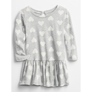 Baby Long Sleeve Ruffle Dress
