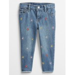Toddler Embroidered Girlfriend Ankle Jeans
