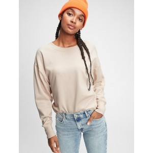 Drapey-Sleeve Sweatshirt