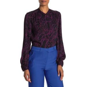 Cornelia Mandarin Collar Long Sleeve Shirt