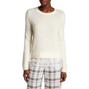 Jessarey Wool Blend Lace Hem Sweater