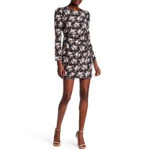 Amelda Floral Print Silk Dress