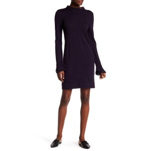 Fildelma Ruffle Trim Wool Dress