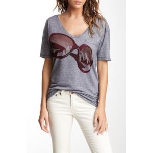 Slub V-Neck Pocket T-Shirt