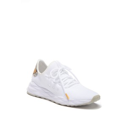 Stardust Snakeskin Print Accent Sneaker