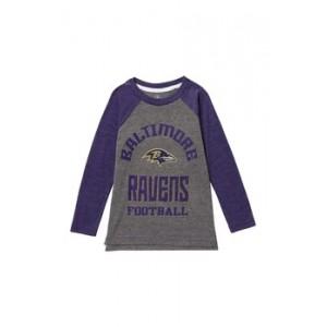 Baltimore Ravens Classic Gridiron Long Sleeve Raglan Tee (Toddler & Little Boys)
