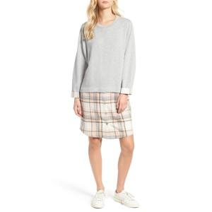 Caslon(R) Layered Look Tunic Dress (Regular & Petite)