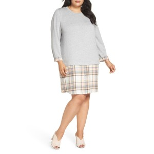 Caslon(R) Layered Look Tunic Dress (Plus Size)