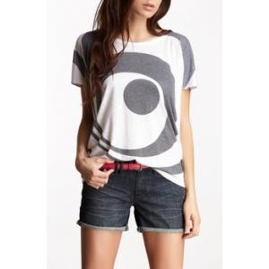 Boatneck Printed T-Shirt