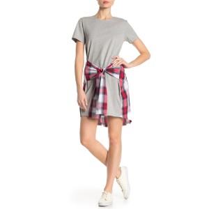 Short Sleeve Plaid Front Dress