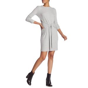 Ribbed Tie-Waist Sweater Dress