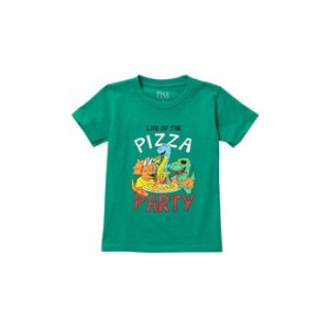 Dino Pizza Party T-Shirt (Toddler & Little Boys)