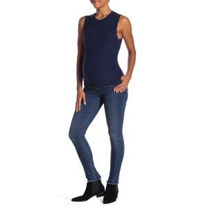 Frayed Hem Signature Skinny Jeans (Maternity)