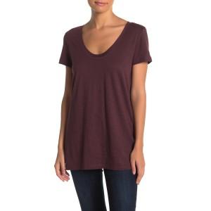 Scoop Neck Slub T-Shirt (Regular & Petite)