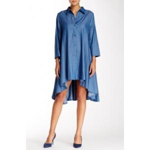 Chambray Hi-Lo Shirt Dress
