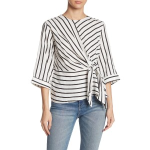 Striped Knot Tie Top