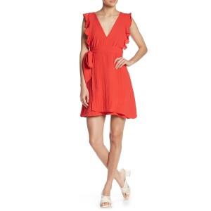 Ruffle Wrap Skirt Dress