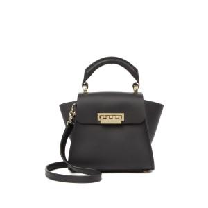 FUR Eartha Iconic Top Handle Genuine Mink Fur Accent Mini Leather Handbag