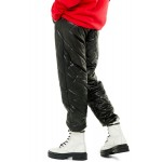 Quilted Faux Leather Joggers