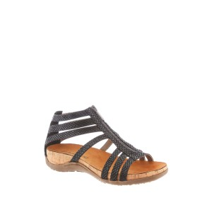 Layla Zipper Footbed Sandal