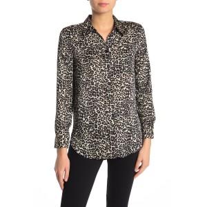 Reese Leopard Print Button Front Blouse