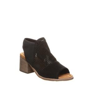Verona Perforated Block Heel Sandal