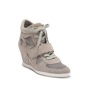 Bowie Suede Perforated Wedge Sneaker