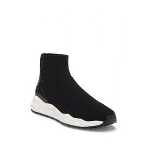 Spot Stripe Stretch Geometric Sneaker