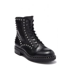 Wolf Studded Leather Boot