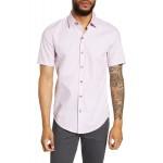 Robb Sharp Fit Short Sleeve Dobby Button-Up Shirt