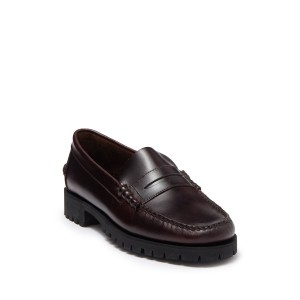 Dan Waxy Lug Penny Loafer - Wide Width Available
