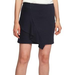 Ruffle Pinstripe Miniskirt