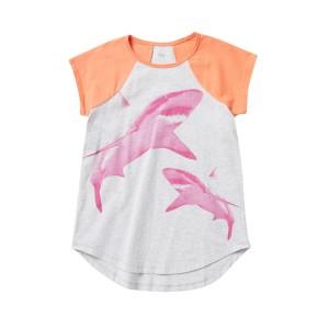 Shark Raglan Graphic Tee (Big Girls)