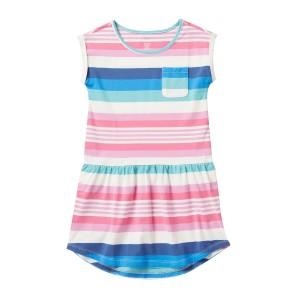 Sunset Stripe Pocket Dress (Big Girls)