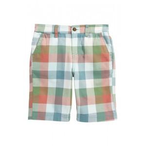 Check Canvas Shorts (Toddler Boys & Little Boys)