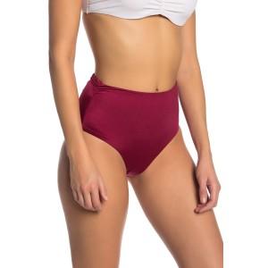 Shirred High Waist Bikini Bottoms