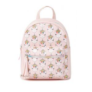 Light Pink Princess Unicorn Print Backpack (Little Girls & Big Girls)