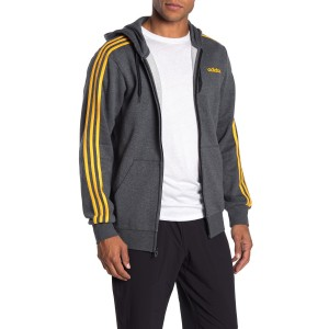 Essentials 3-Stripe Zip-Up Hoodie