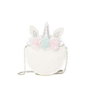 Round Flower Unicorn Crossbody Bag
