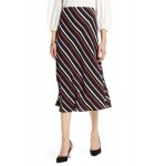 Bias Cut A-Line Midi Skirt (Regular & Petite)