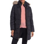 Faux Fur Trim Hooded Quilted Down Jacket