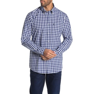 Gingham Print Tailored Fit Shirt